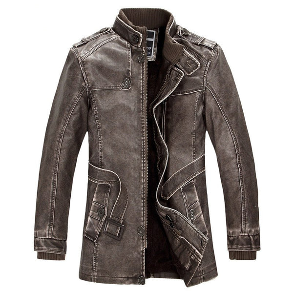I Men Apparel Winter Mens Bomber Style Leather Jacket - imenapparel.com