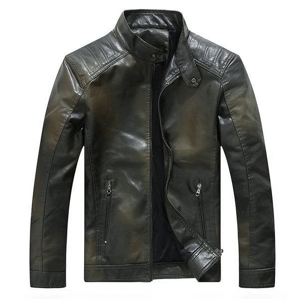 Gradient Men Leather Jacket In Multiple Colors - imenapparel.com