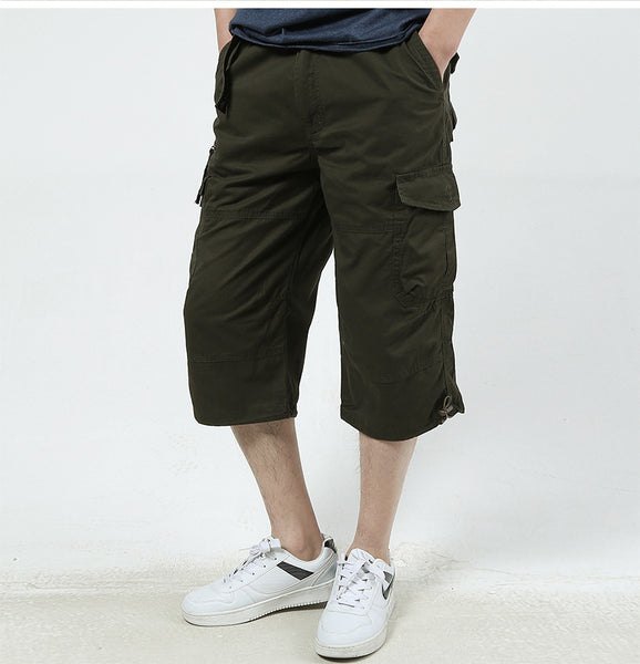 Men's Baggy Multi Pocket Military Zipper Cargo Shorts - imenapparel.com