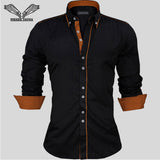 Mens European Style Button-Down Half Sleeve Dress Shirt - imenapparel.com