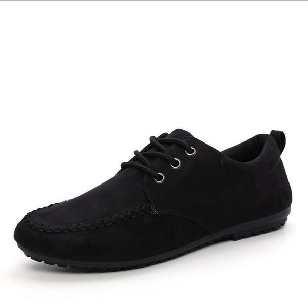 Suade Loafers in Black or Blue - imenapparel.com