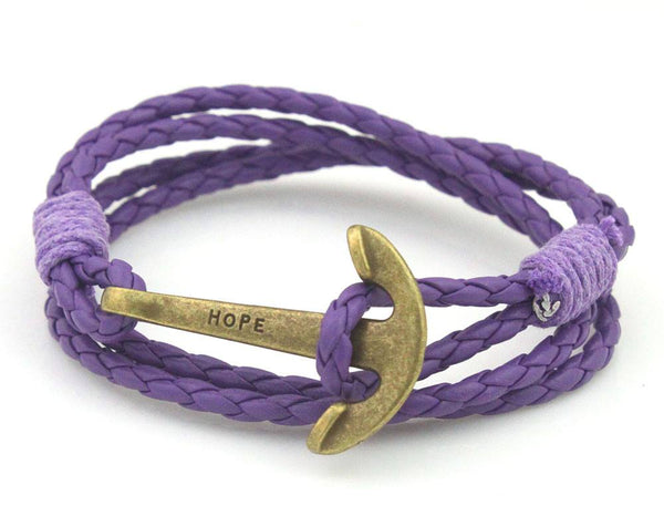 Leather Anchor Bracelet - imenapparel.com