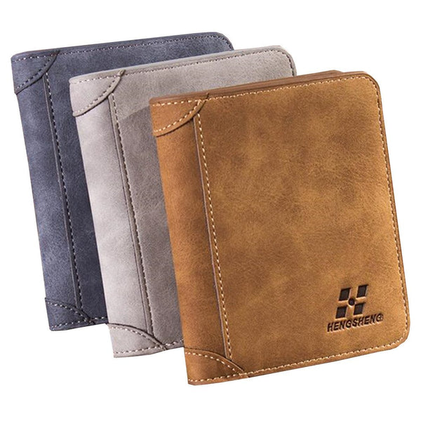 HAHMES Men's Retro Matte Leather Wallet - imenapparel.com