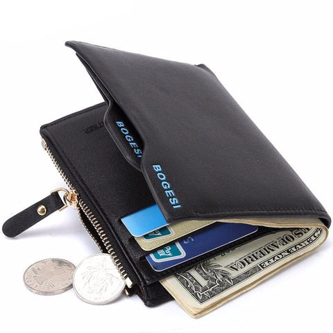 Bogesi Men's Wallet W/Zipper