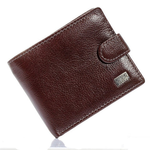 Men's Brown Coffee Leather Wallet - imenapparel.com