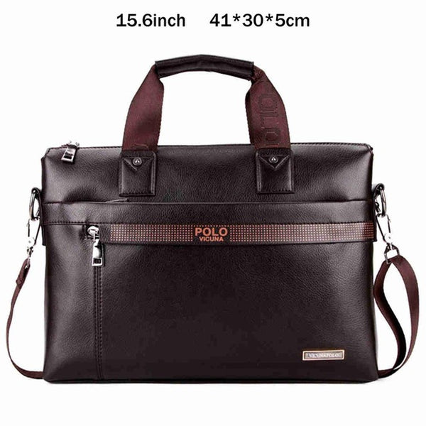 VICUNA POLO Fashion  Leather Briefcase Bag  Laptop Bag