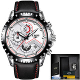 LIGE Quartz Mens Army Sport Watch - imenapparel.com