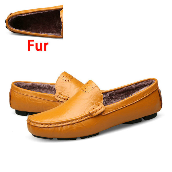 DEKABR Men Genuine Leather Soft Moccasins Loafers - imenapparel.com