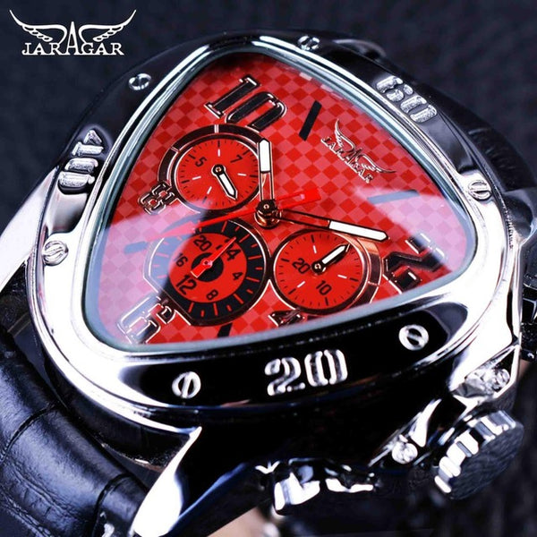 Jaragar Geometric Triangle Design Luxury Wrist Watch