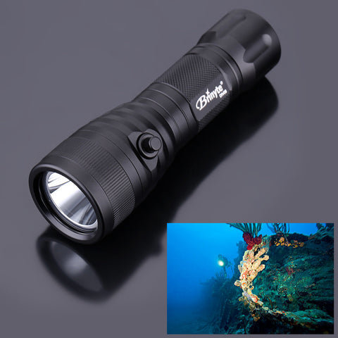 Brinyte DIV08 XM-L2 LED Diving Torch with Magnetic Switch Waterproof 150m 1000 Lumens