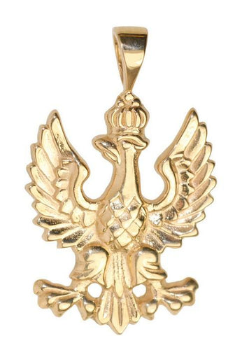 Gold 14k or 925 Silver 1918 Polish White Eagle Pedant
