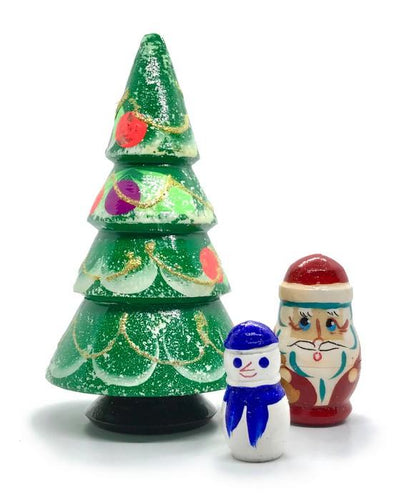 3 Piece Christmas Nesting Toy - 4.25 inch