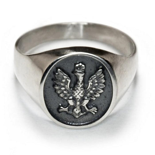 14k Gold or 925pf Silver White Eagle Ring January Uprising
