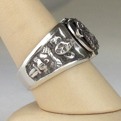 925pf Silver Polish Eagle Ring