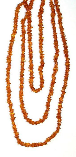 Incredibly Long Pure Dark Amber Necklace, 70 inches