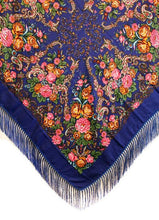 Polish Shawls - Traditional Floral Motif with Fringe, 43 inch