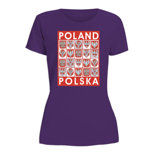 Poland Crests Women's Short Sleeve Tshirt