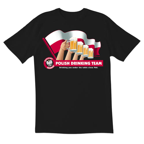 Polish Drinking Team Flag Short Sleeve Tshirt