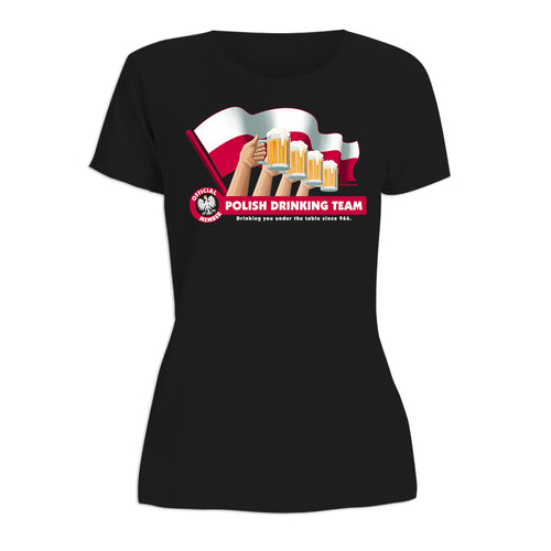 Drinking Team Flag Women's Short Sleeve Tshirt