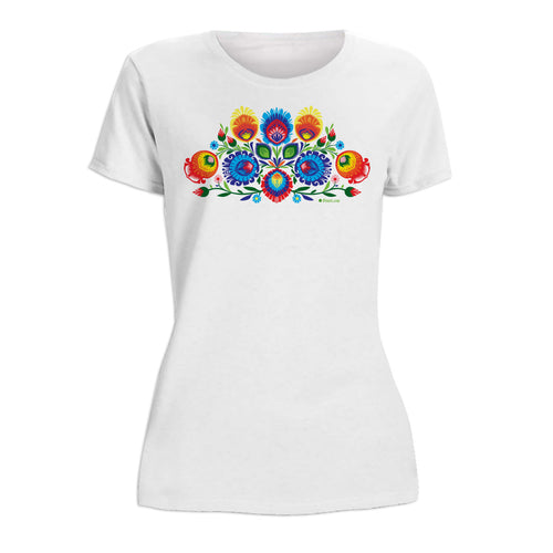 Folk Art Wycinanki Women's Short Sleeve Tshirt