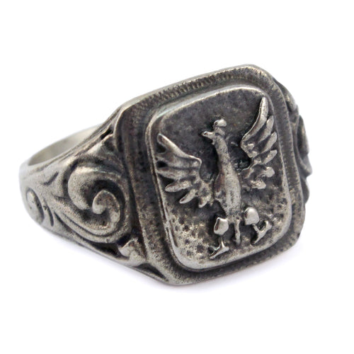 925pf Silver White Eagle Ring November Uprising
