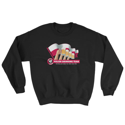 Polish Drinking Team Flag Crew Neck Sweatshirt