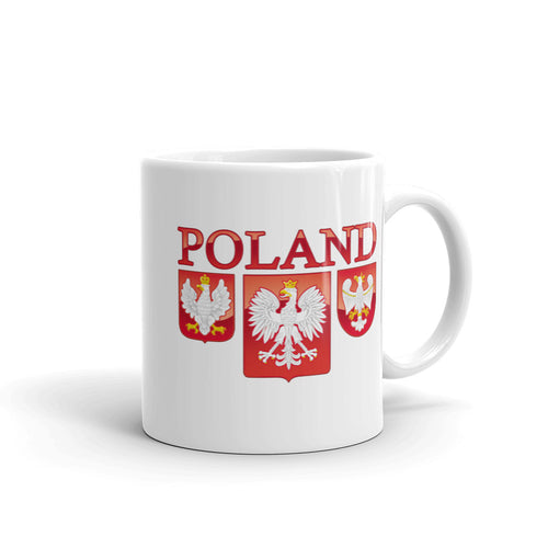 3 Polish Eagle Shields  11oz. Mug