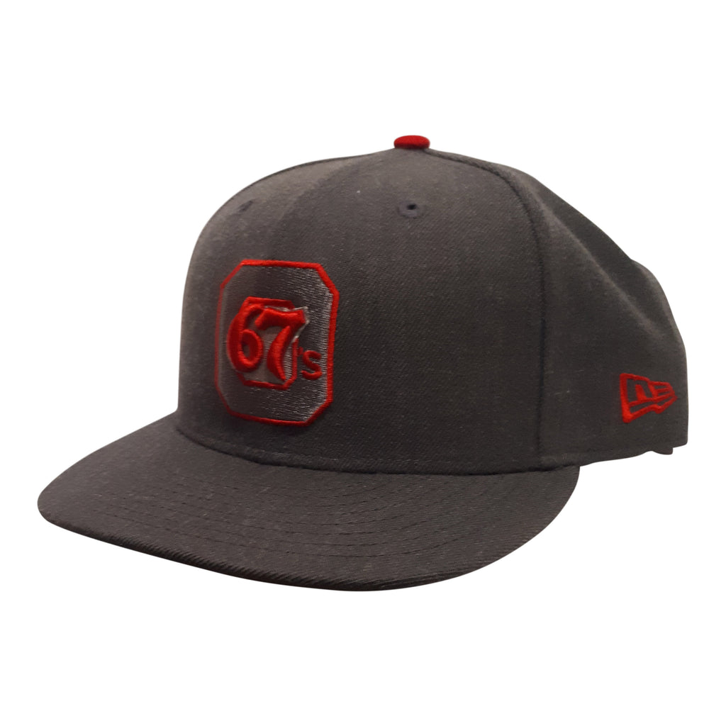 67's New Era 9Fifty Snapback Grey w/ Red Logo