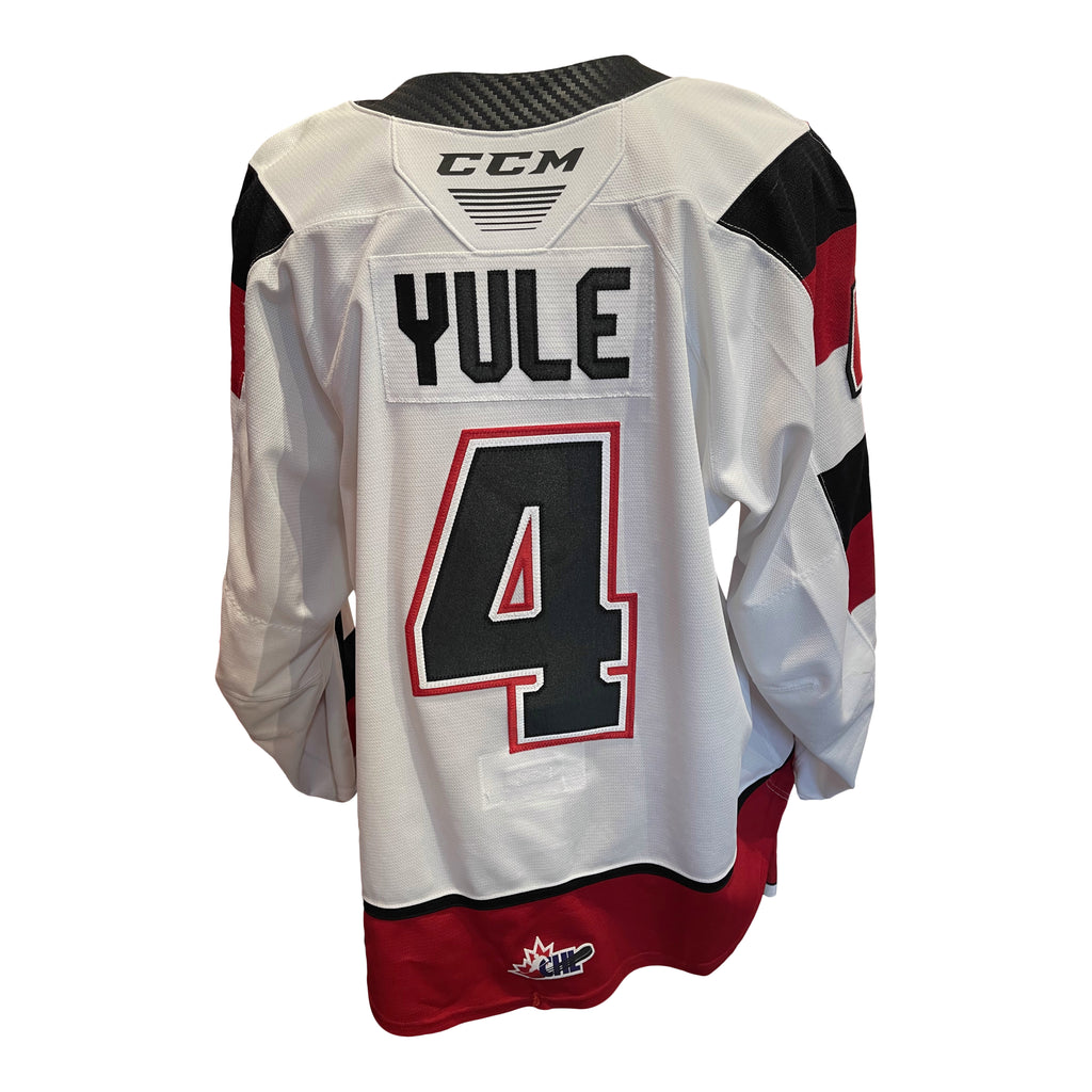 Game Worn #4 Quinn Yule Home Jersey - Size 58