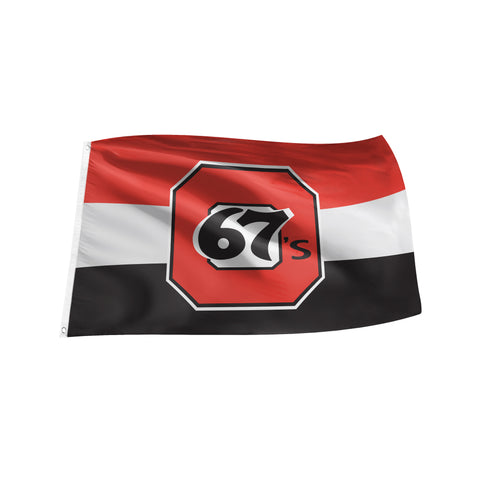 67's 3'x5' Team Logo Flag