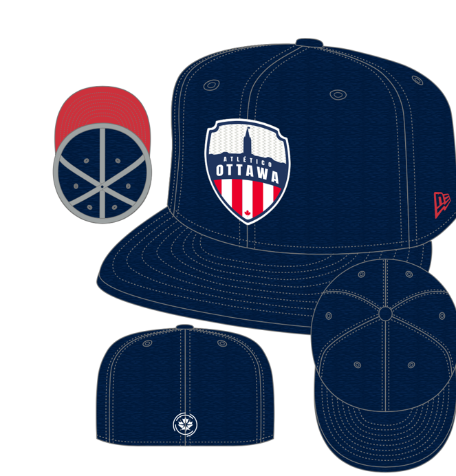Atlético Ottawa x New Era 59Fifty Logo Fitted Hat - Navy