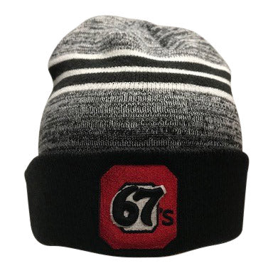 67's New Era Cuffed Marled Black Toque