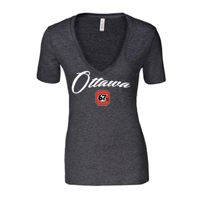 67s Women's V-Neck Cursive