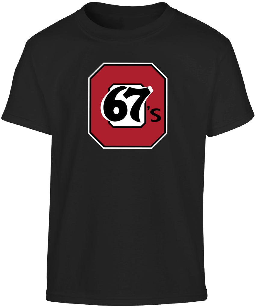 67's Youth Bulletin Core Logo Black Tee