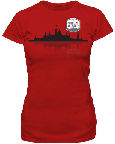 Bulletin Grey Cup 105 Ladies Cityscape T