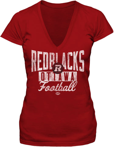 REDBLACKS WMS Bulletin Sweeper V Neck Red