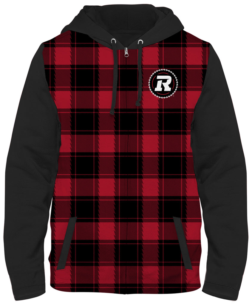 REDBLACKS Plaid Full Zip Jacket