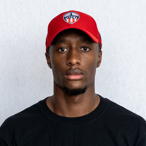 Atlético Ottawa x New Era 9Forty Logo Snapback Hat - Red