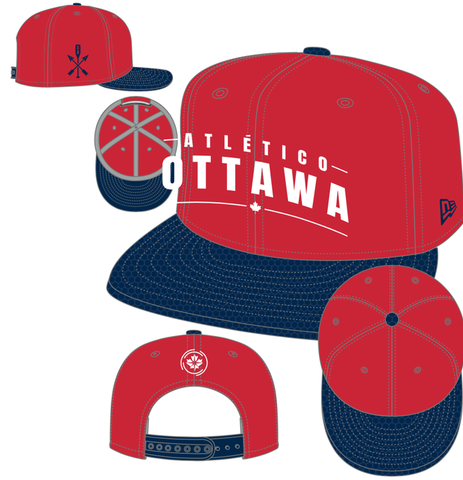 Atlético Ottawa x New Era 9Fifty Snapback Hat -  Red