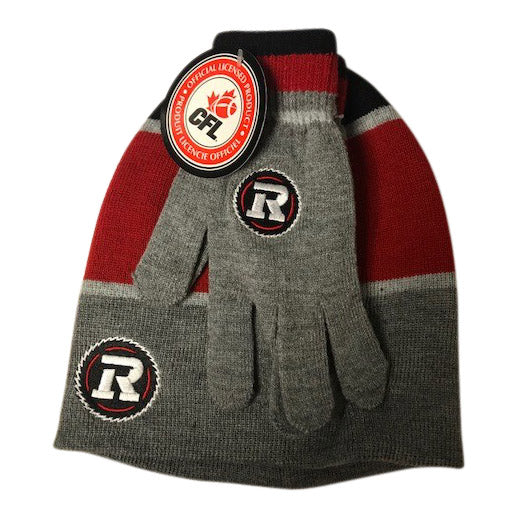REDBLACKS Adult Toque and Glove Combo Pack