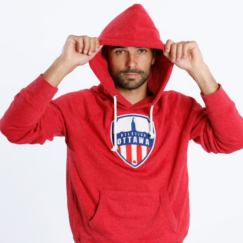 Atlético Ottawa Primary Logo x Campus Crew Hoodie - Red