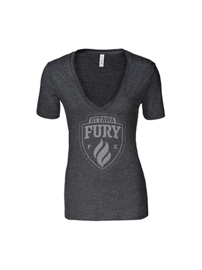 Ottawa Fury FC Womens Fury Tonal V Neck