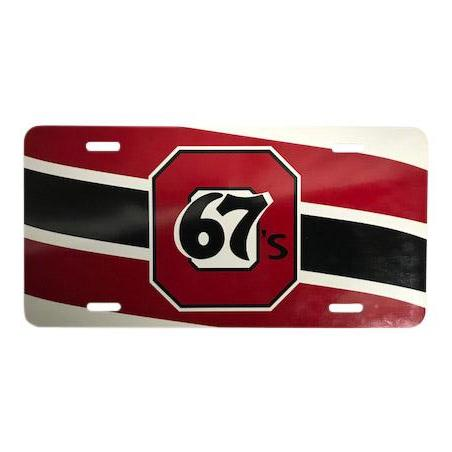 67's License Plate Sign