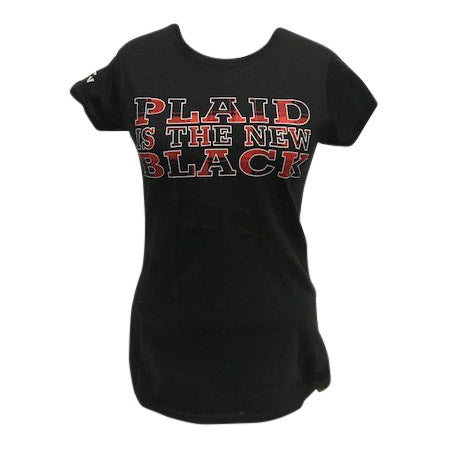 WMS Plaid is the New Black Tee