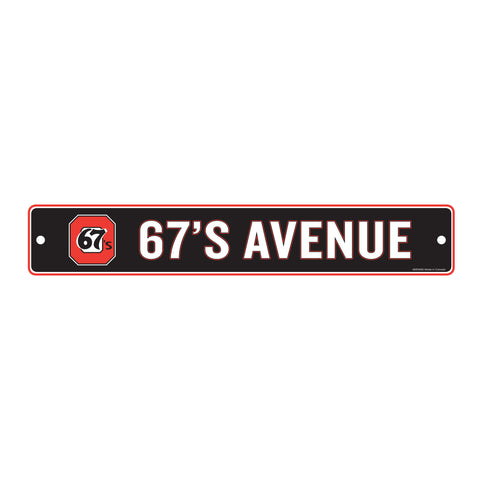 67's Avenue Sign