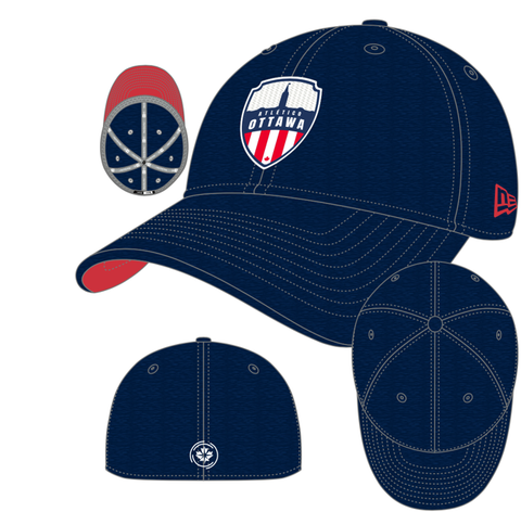 Atlético Ottawa x New Era 39THIRTY Flex Fit Hat - Navy