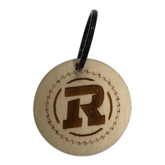Hand Crafted Wooden Circle logo keychain