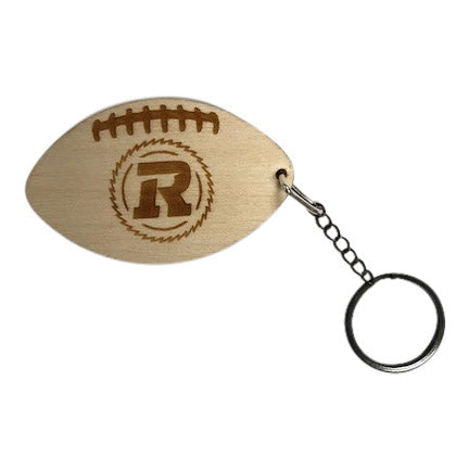 Hand Crafted Wooden Football keychain