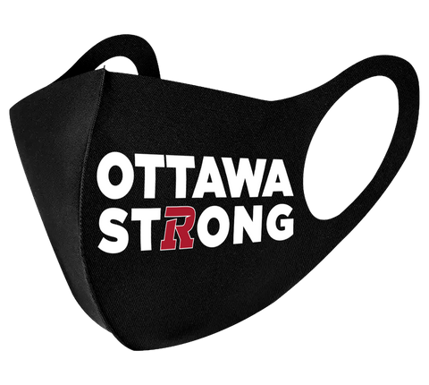 Ottawa Strong REDBLACKS Face Mask -- 3 Pack