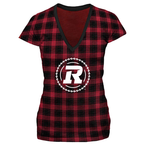 REDBLACKS  WMS All Over Plaid V-Neck